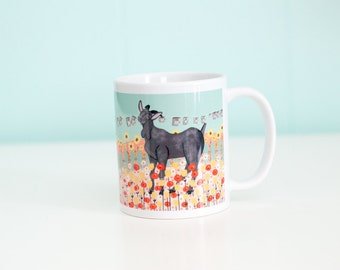 Goat Coffee Mug / A Meadow and Tin Cans / 11oz Coffee Mug
