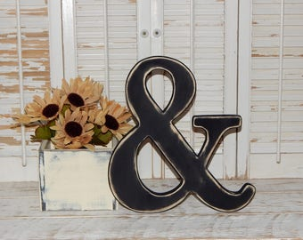 Ampersand Wall Decor ampersand and sign rustic weddingphoto prop wall hanging