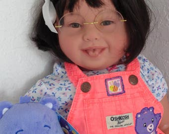 "Reborn 22"" Toddler Girl Doll ""Care Bear Katie""-Down Syndrome Tribute"
