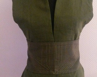 MADE TO ORDER: vest with belt linen,steampunk, Star Wars,cosplay,fantasy,lotr, elf, cosplay