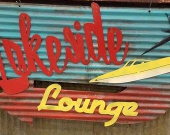 Lakeside Lounge Retro Metal Sign