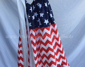 4th of July Dress, Flag Dress, 4th of July Outfit, America Dress, Pillowcase Dress, Red White and Blue Wear, USA Dress, Memorial Day Dress