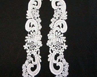 """4 Pairs of Venice Lace Collars.  4 1/2"""" x 8"""".  Color is white."""