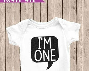 Boy First Birthday Iron-On, One Birthday Onesie, 1st Birthday Onesie, Boy Birthday Outfit, DIY Iron-On, Prince One Birthday