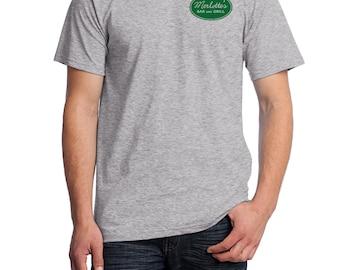 Merlotte's Bar and Grill Waitress Shirt, Fruit of the Loom Shirt, Direct to Garment, Men's Heather Grey Shirt