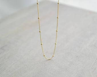 Simple necklace 14k gold dainty necklace 14k gold era necklace delicate gold necklace 14k gold 14k solid gold minimalist aloadofball Image collections