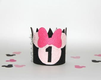 Minnie Baby Crown // 1st Birthday Crown // Minnie Mouse Crown // by Born TuTu Rock