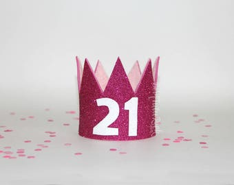 21st Birthday Crown || Birthday GLAM crown || Ready to Ship || by Born TuTu Rock