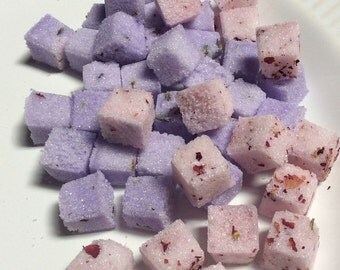 LAVENDER and ROSE Petal (160) Sugar Cubes for Tea Lovers Gift, Weddings, Bridal Showers, Tea Service