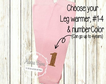 Personalized Birthday Baby Leg Warmers Girl, Baby Girl Clothing, 1st Birthday outfit Toddler Leg Warmers, Baby Leggings - Customize Your Own