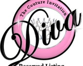 Custom Listing for Cris - Birthday Girl  Shopping Bag Invitation & Matching Gift Tags
