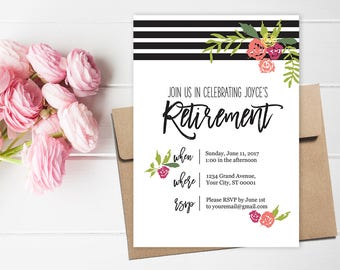 Retirement Party Invitation and Party Decor // Retirement Party Bucket List // Retirement Party Decorations // Retirement Party Ideas