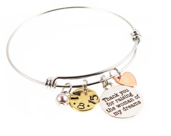 Mother of the Bride Gift - Custom Hand Stamped Jewelry - Mother of the Bride - Mother Wedding Day Gift - Gifts - Expressions Bracelets