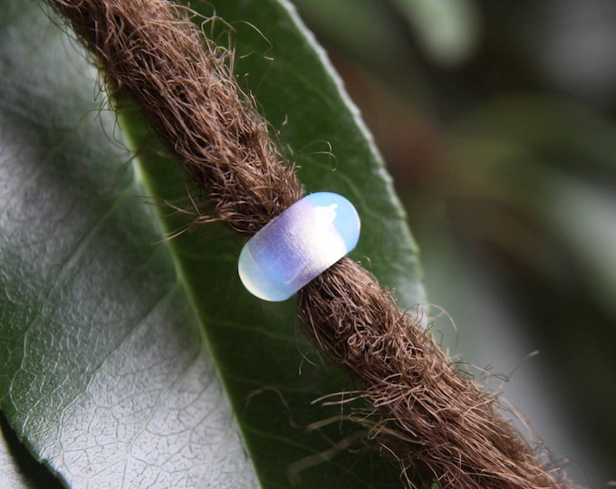 3 Natural Opalite Gemstone 5mm Hole (3/16 Inch)