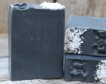 DETOX SOAP | Activated Charcoal Soap |Tea Tree & Lavender Soap | All Natural | Handmade Soap | Soap for Acne prone Skin | Essential Oils