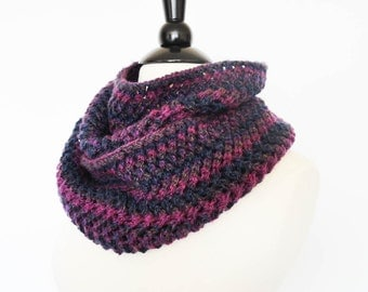Hand Knit Infinity Cowl Fashion Scarf Orchid Purple Infinity Scarf, Womens Accessories, Gift For Her, Womens Cowl, Neckwarmer, Circle Scarf