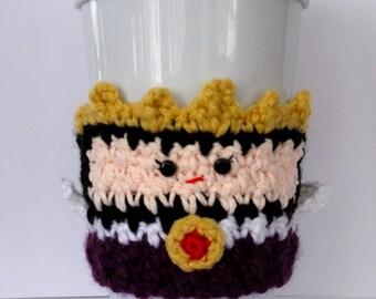 Crochet Evil Queen Coffee Cup Cozy