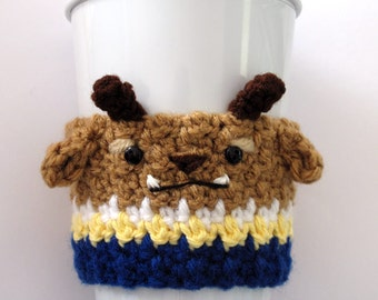Crochet Beast Coffee Cup Cozy