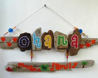 OHANA means family Driftwood Art