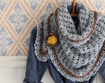 Crochet pattern Apple Picking Shawl