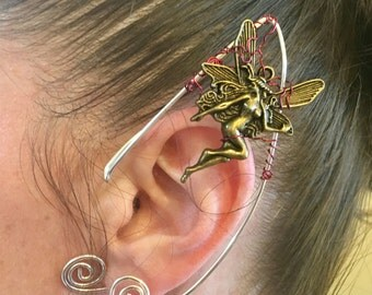 Elf Ear Cuff, Ear Cuff, Fairy Ear Cuff, Fairy Earcuff, Bronze Fairy , Festival Jewelry, Fairy Jewelry