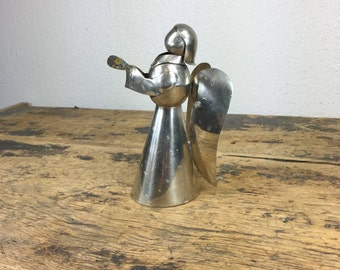 Vintage Silver Metal Angel Made in Mexico