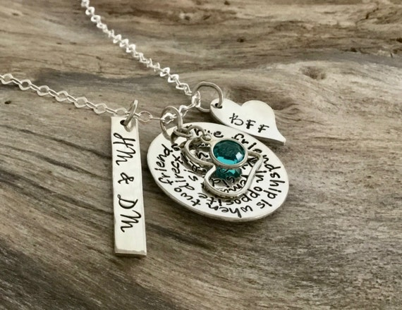 Sterling silver best fiend necklace - best friend forever - best friend gift ideas - best friend heart necklace - Quote 2