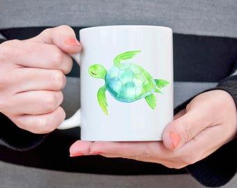 Sea Turtle Mug Gift for Girlfriend Turtle Lover Coffee Mug Sea Turtle Gift for Wife Gift for Her Coffee Cup Gift Idea for Sister Wife Gift