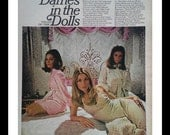 Sharon Tate 'Valley of the Dolls' Patty Duke, Barb Parkins Cover Movie Pics  Sexy sirens.  60s Classic Film.  4pp.  Scandalous Movie.  Frame