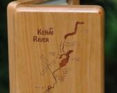 KENAI RIVER MAP Fly Box -...