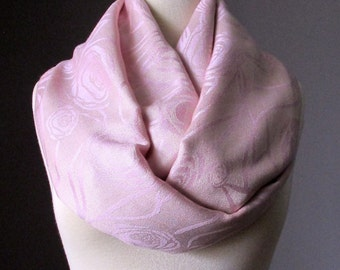 Pashmina Infinity scarf, Blush scarf, Powder Pink scarf,  infinity scarf, pashmina scarf, Rose scarf