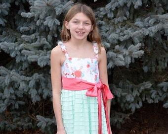 Spring fancy Party ruffle twirl dress