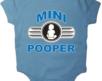 Funny saying baby shirt funny shirt mini pooper infant tee