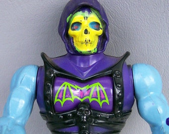 Vintage He-Man (MOTU) Hard Head Skeletor Made in Mexico Rare Battle Armor Figure