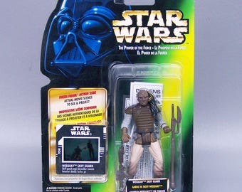 Christmas in July Sale - Star Wars Freeze Frame Weequay (MOC) Mint on Card Tri Logo POTF Very Rare
