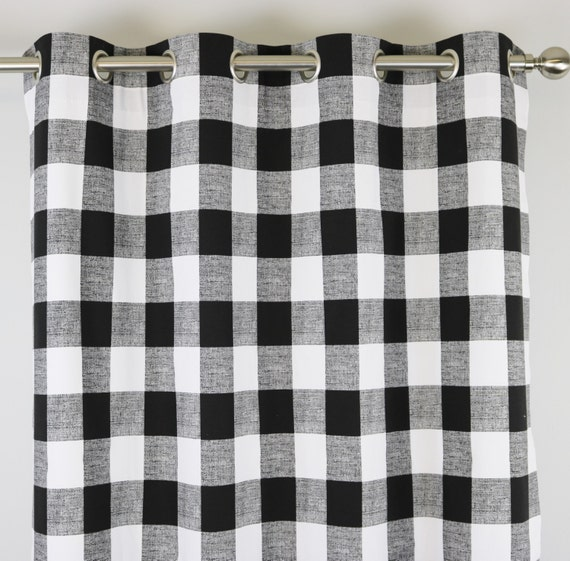 Black And White Buffalo Check Curtains Grommet 84 96 108