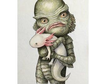 "Thomas Ascott's ""Childhood Pet"" Print - Signed by the artist"