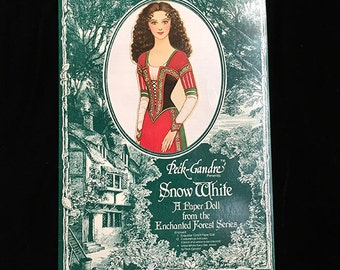 Snow White, Vintage Peck-Gandre Paper Doll, Enchanted Forest Series, Grimm's Fairy Tale