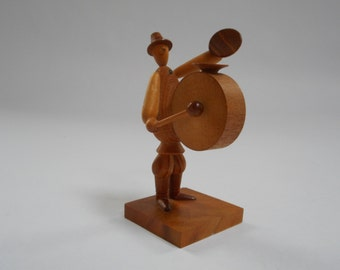 Made in Poland wood musician figurine,  Polish folk art,  Borowik, Byliniak