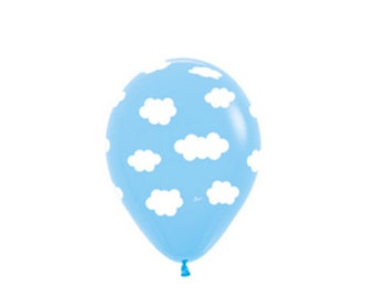 """FREE SHIPPING Pastel Blue Clouds 11"""" latex balloons"""