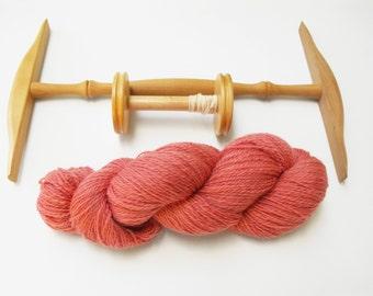 Blush Pink Hand Spun Merino Romney Wool, DK/Worsted Wool Yarn, Pink Merino Romney Hand Spun, Pink Wool Yarn, Pink Hand Spun Wool Blend