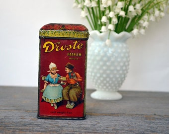 Droste Haarlem Holland Cocoa Tin | Vintage Tin | Dutch Decor | French Cottage