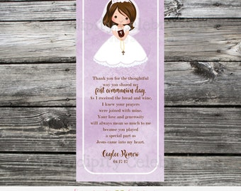 Printable Bookmark, First Holy Communion, Communion Favors, Printable DIY Holy Communion Favor, Personalized Bookmark, 1st Communion