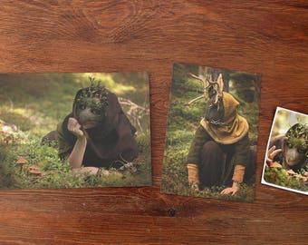 Postcard/Print & Sticker Set #2