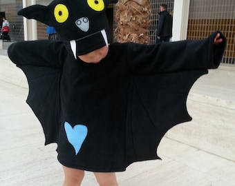 Halloween child bat costume black baby toddler