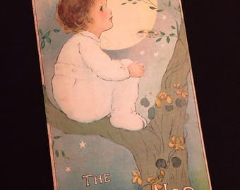 Darling Antique 1916 Land of Nod Book Booklet, Margaret Evans Price, Fairy Leprechaun, Vintage Childrens Book, Bedtime Story