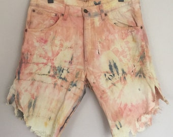 Vintage Tie Dye Levis Jean Shorts