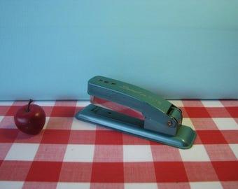 Swingline Cub Stapler - Teal Turquoise - Industrial -  Retro Office - Vintage 1960's