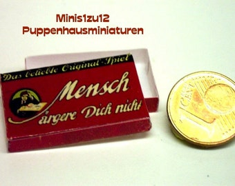 "3103# Toy box ""Mensch-ärgere-dich-nicht"" - Doll house miniature in scale 1/12"