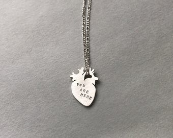 Personalized Heart Anatomy Charm Necklace, follow your heart